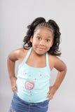 Chica joven emocionada Imagen de archivo libre de regalías