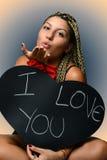 Chica joven en amor Fotografía de archivo