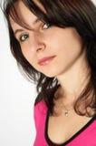 Chica joven en color de rosa Imágenes de archivo libres de regalías