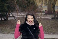 Chica joven en el parque Foto de archivo