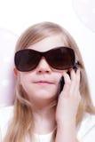 Chica joven en el teléfono Fotografía de archivo