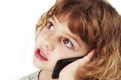 Chica joven en el teléfono celular Fotografía de archivo