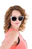 Chica joven en gafas de sol imagen de archivo libre de regalías
