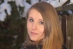 Chica joven en invierno Imagen de archivo libre de regalías