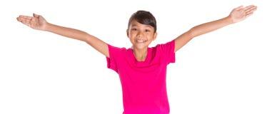 Chica joven en la camiseta rosada II Imagen de archivo
