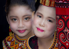 Chica joven en la ceremonia fúnebre de Toraja Fotos de archivo