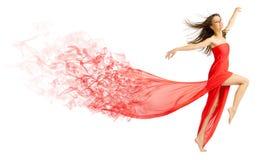Chica joven en paño rojo Fotografía de archivo