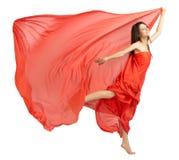 Chica joven en paño rojo Imagen de archivo