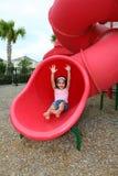 Chica joven en patio Imagen de archivo libre de regalías