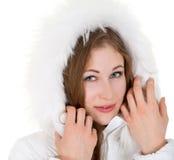 Chica joven en ropa del invierno Foto de archivo libre de regalías