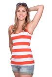 Chica joven en ropa del verano Imagenes de archivo