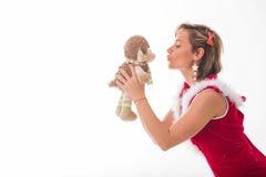 Chica joven en un fondo ligero Imagen de archivo