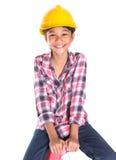Chica joven en una escalera VII Imagen de archivo libre de regalías