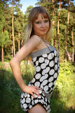 Chica joven en vestido Imagen de archivo libre de regalías