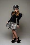 Chica joven en vestido del th del estilo ruso Imágenes de archivo libres de regalías