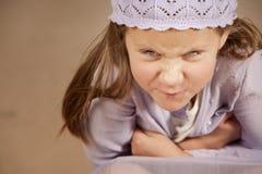 Chica joven enojada Fotos de archivo libres de regalías
