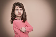 Chica joven enojada Imagenes de archivo