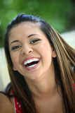Chica joven feliz Imagenes de archivo