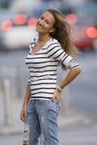 Chica joven feliz 3 Imágenes de archivo libres de regalías