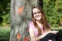 Chica joven feliz Fotografía de archivo libre de regalías