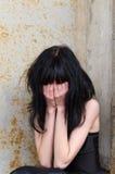 Chica joven gritadora Fotografía de archivo libre de regalías