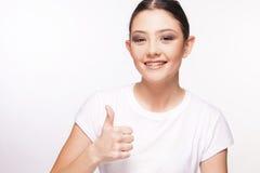 Chica joven hermosa con el apoyo Fotos de archivo libres de regalías