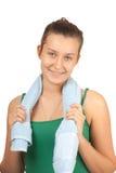 Chica joven hermosa con una toalla Fotografía de archivo