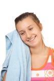Chica joven hermosa con una toalla Imagen de archivo
