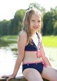 Chica joven hermosa en traje de baño Imagenes de archivo