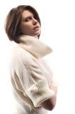 Chica joven hermosa en un suéter Imagen de archivo libre de regalías