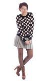 Chica joven hermosa en una blusa y una falda Imagen de archivo libre de regalías