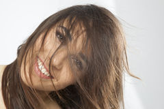 Chica joven hermosa real Fotografía de archivo