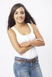 Chica joven hermosa real Foto de archivo