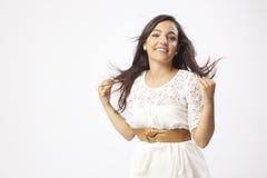 Chica joven hermosa real Imagen de archivo libre de regalías