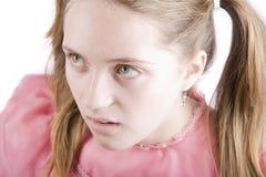 Chica joven malcriada Foto de archivo