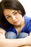 Chica joven muy triste Imagen de archivo libre de regalías