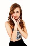Chica joven preciosa. Imagen de archivo