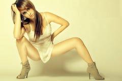 Chica joven provocativa atractiva del encanto Imagen de archivo libre de regalías