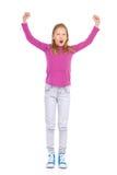 Chica joven que anima Imagen de archivo libre de regalías