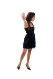 Chica joven que gesticula la parada Imagen de archivo libre de regalías