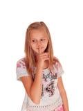Chica joven que habla en su teléfono celular Foto de archivo