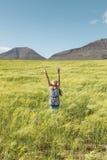 Chica joven que ruega a dios Fotografía de archivo