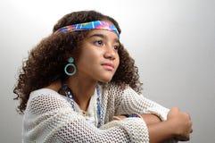 Chica joven que soña despierto Fotografía de archivo