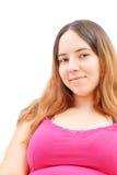 Chica joven que sonríe en la cámara Imagenes de archivo
