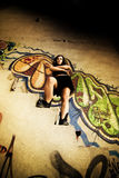 Chica joven rebelde Foto de archivo