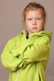 Chica joven seria Foto de archivo libre de regalías