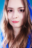 Chica joven smilling divertida Fotografía de archivo libre de regalías