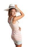 Chica joven sonriente en la ropa del verano Imagenes de archivo