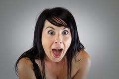 Chica joven sorprendida Foto de archivo libre de regalías