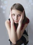 Chica joven trastornada Imagenes de archivo
